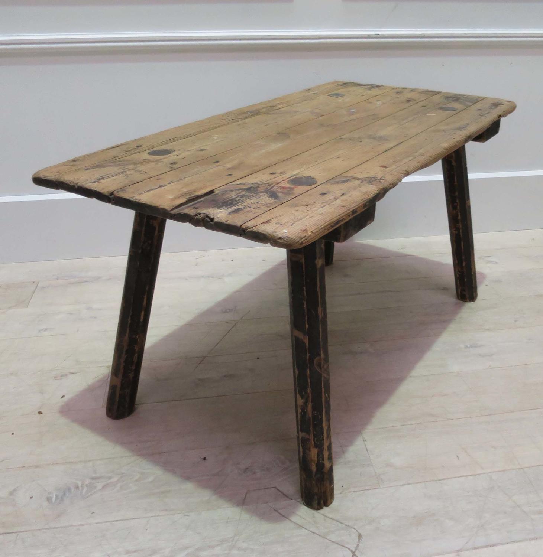 19th c Swedish Primitive Side Table