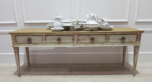 French late 19th century White Console Table