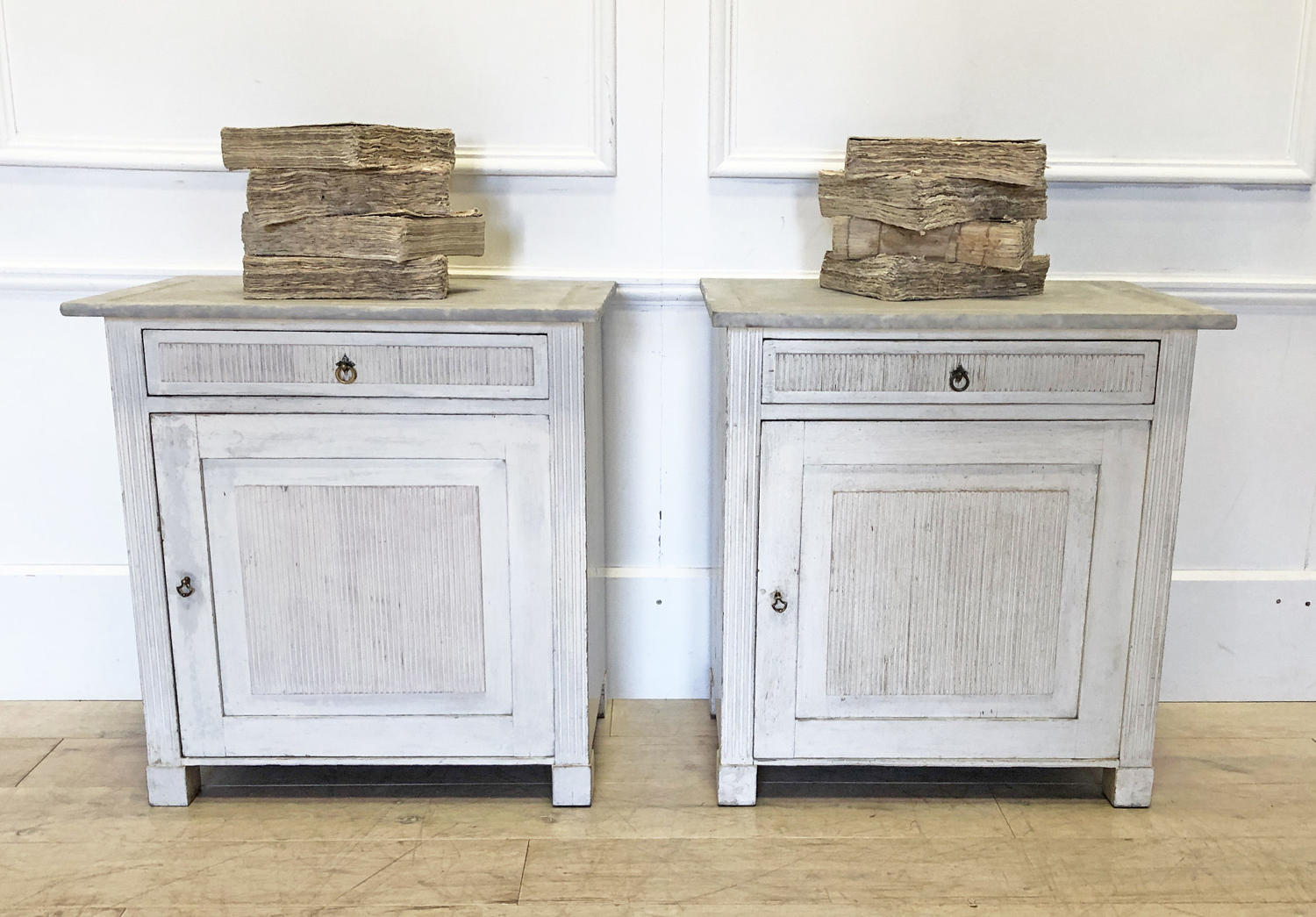 Pair of 19th century Swedish Bedside Tables - 1850