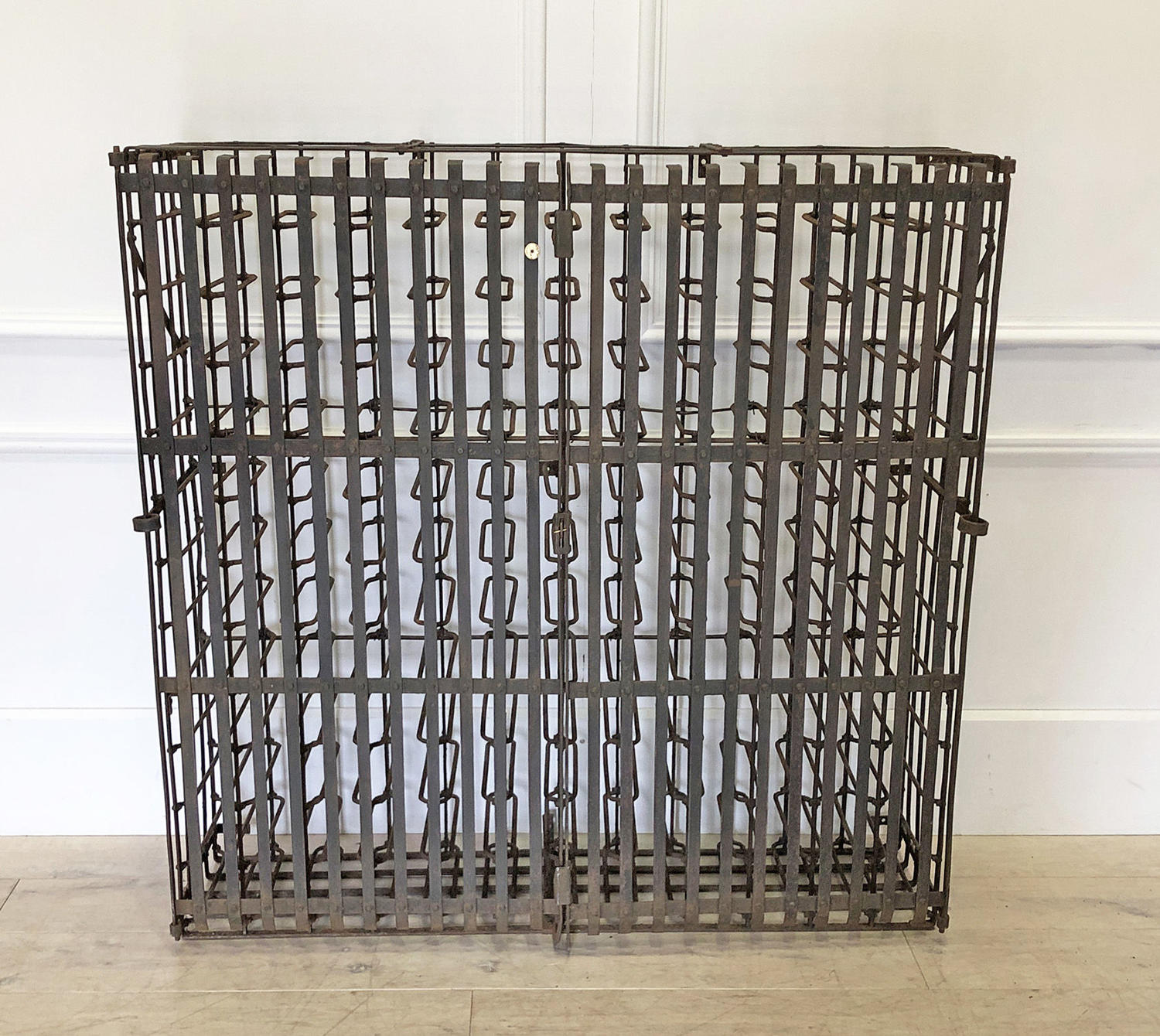 Exceptional 19th c Anglo-French Wine Cage - circa 1890