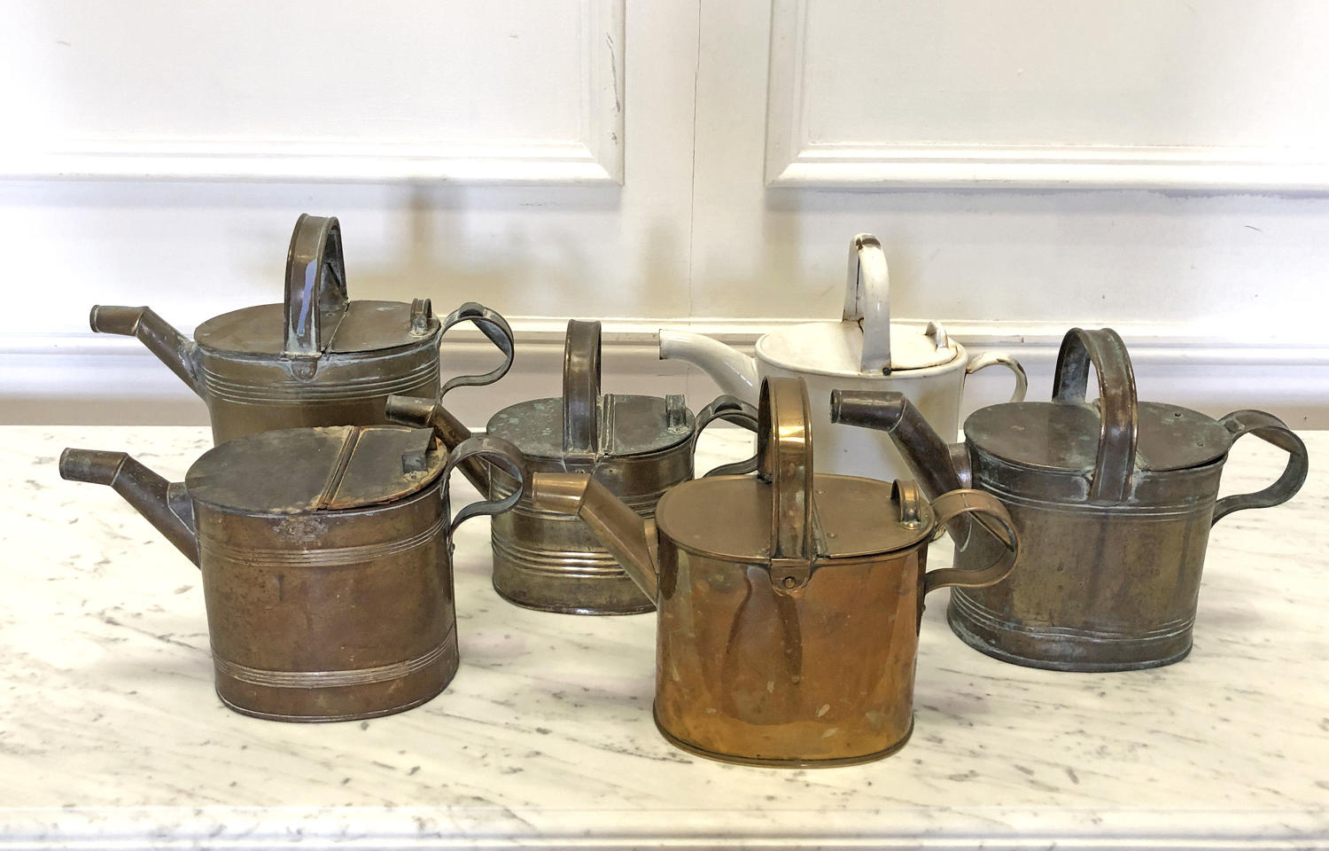 Collection of old English Watering Cans - circa 1920
