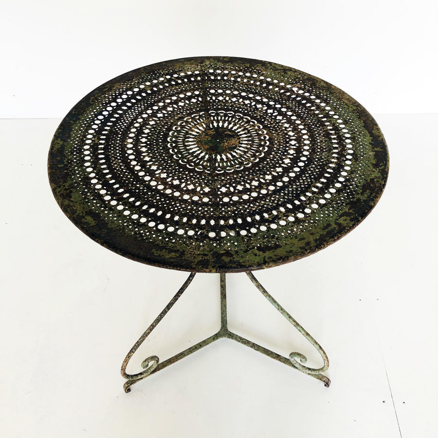 Small 19th c iron Cafe Table - circa 1890