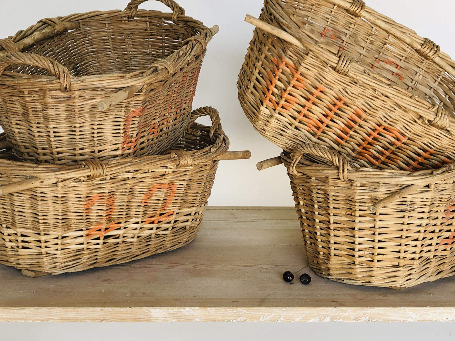 French Cherry Pickers Baskets - circa 1940