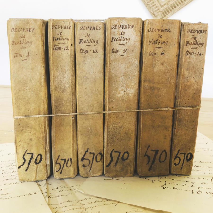Set of 6 18thc French Vellum Books - c.1782
