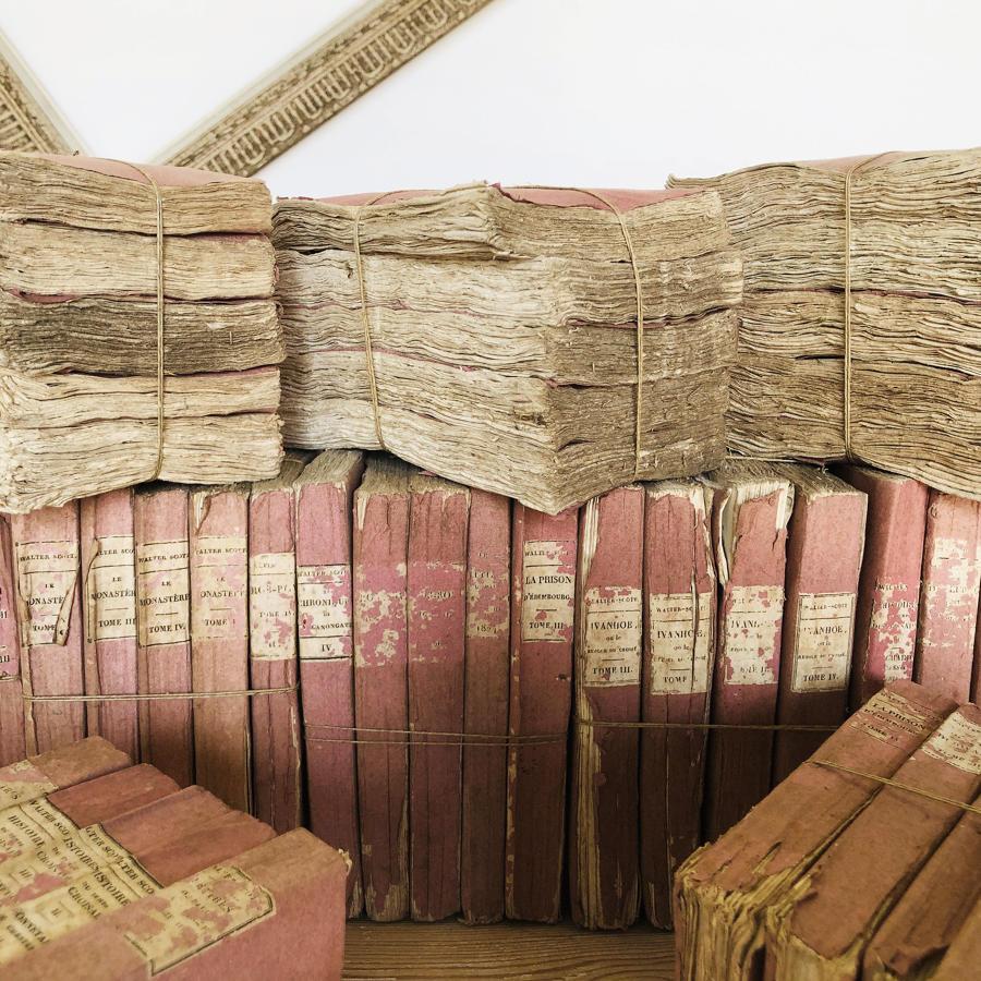 10 Bundles of French 19thc Pink Books - c 1883