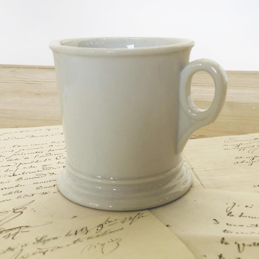 French White Porcelain Mug - circa 1900