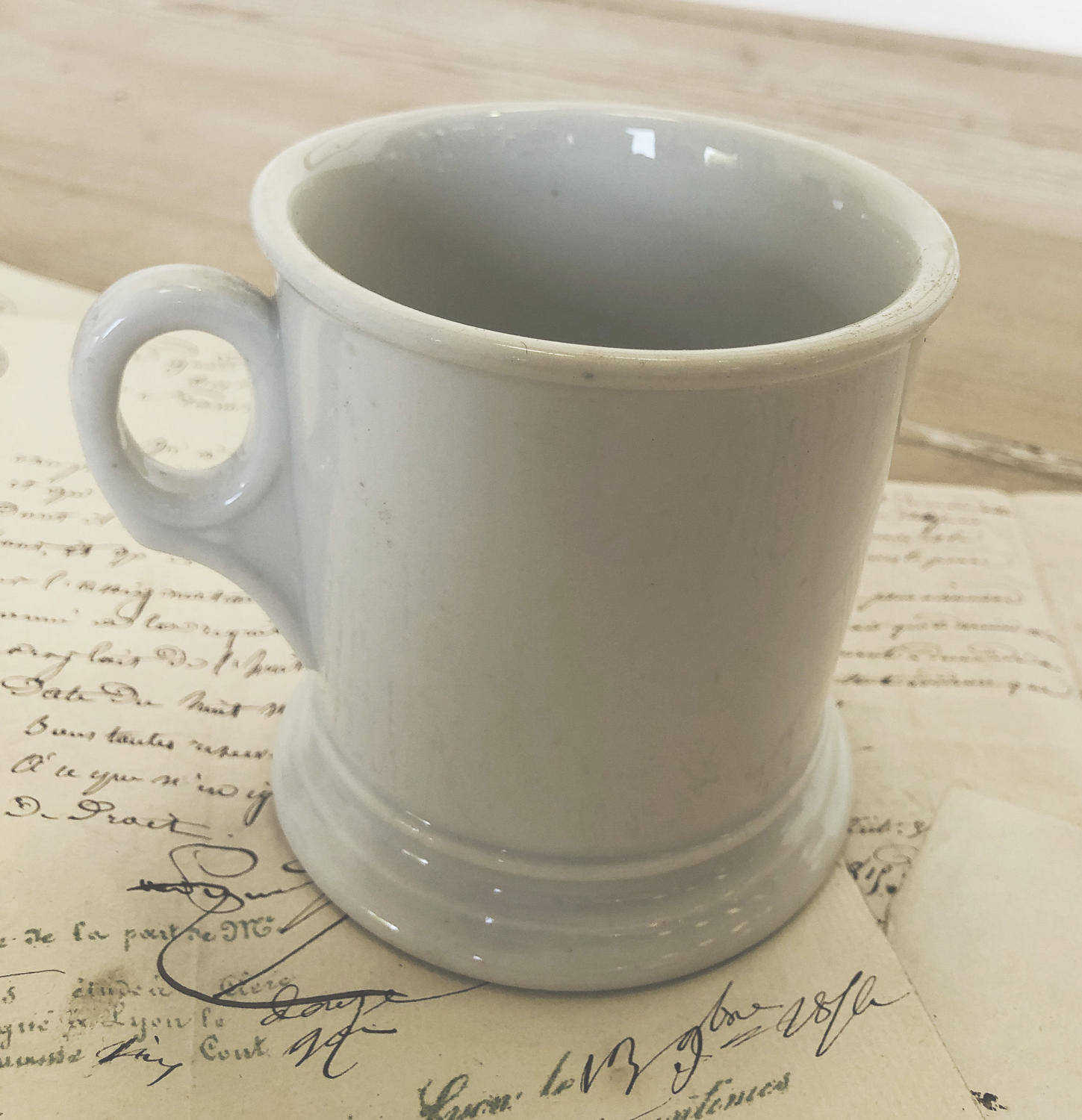 French White Porcelain Mug - circa 1900