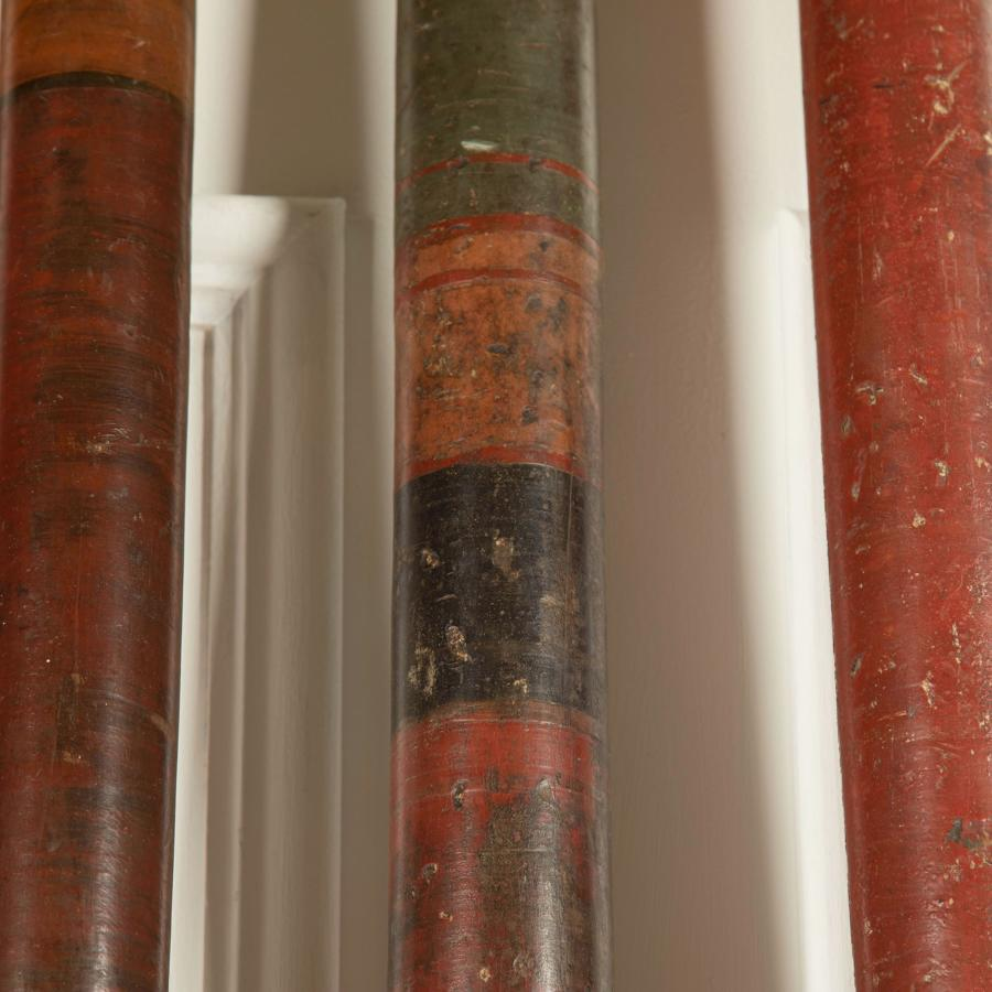 18th c Lacquered Swahili Poles - circa 1750