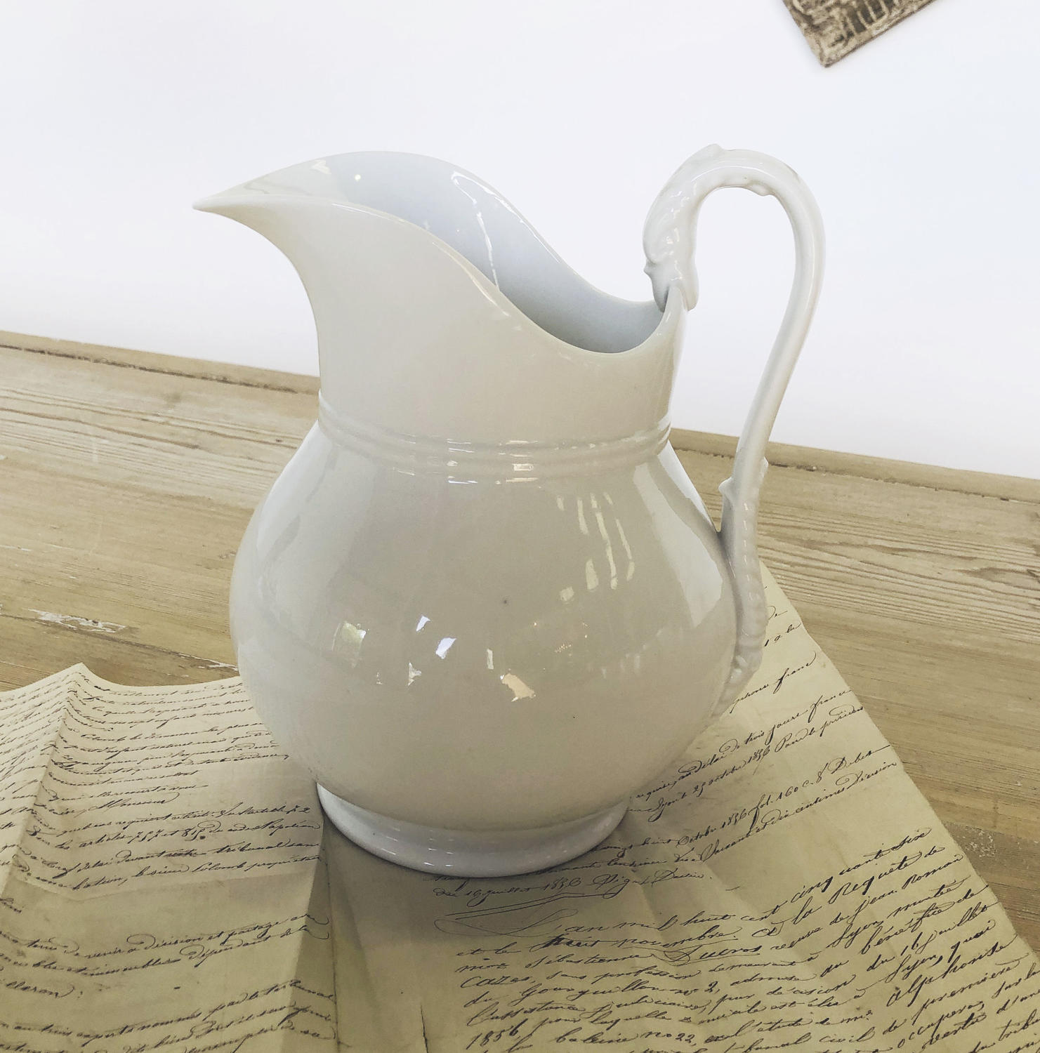 White large French Jug - circa 1920
