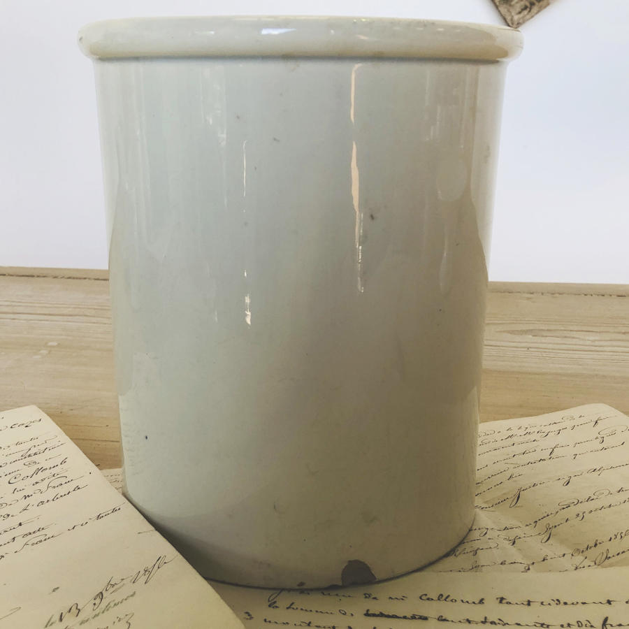 French White glazed Jar - circa 1920