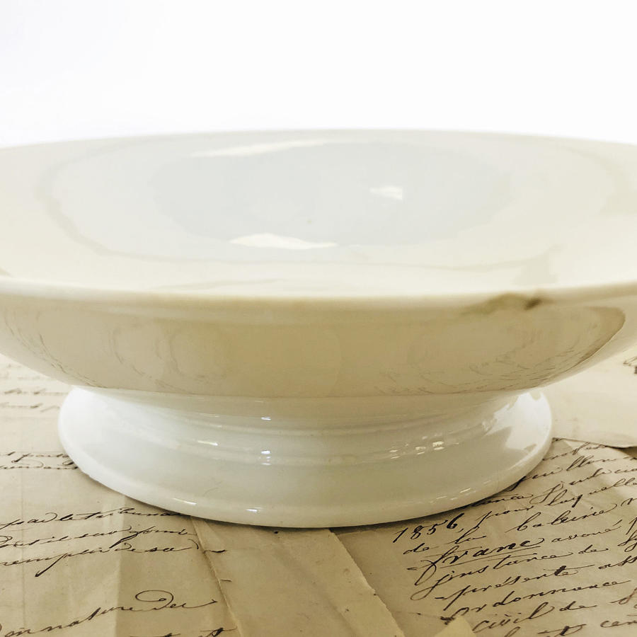 White French Porcelain raised low Fruit Plate- circa 1920