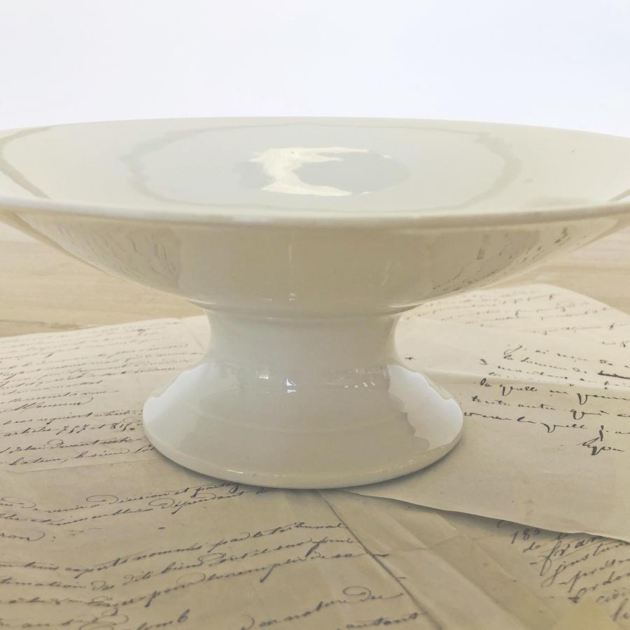 White porcelain French high raised Fruit Bowl - circa 1920