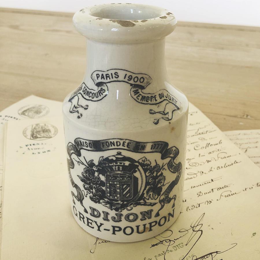 19th c French Dijon Mustard Jar - circa 1900