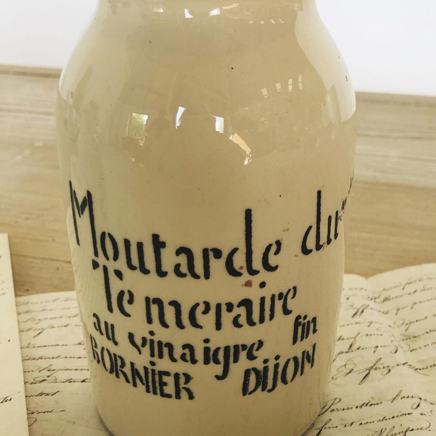 Cream French Mustard Jar from Dijon - circa 1940