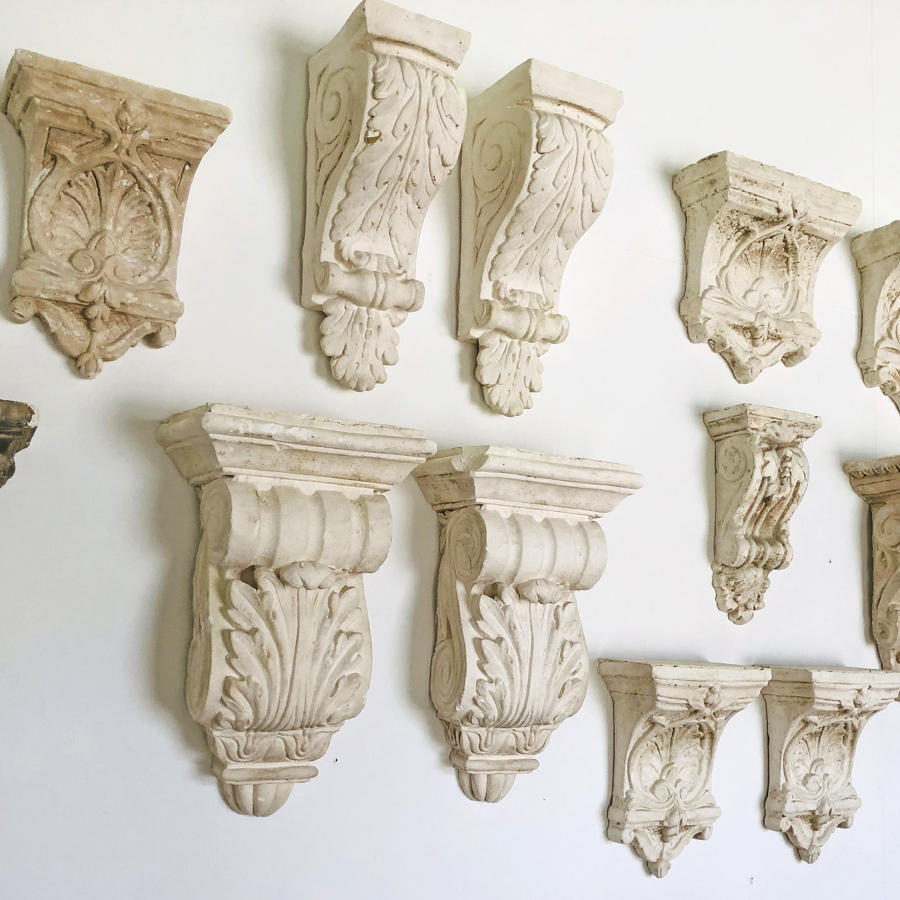 A Collection of 12 Plaster Corbels - circa 1900