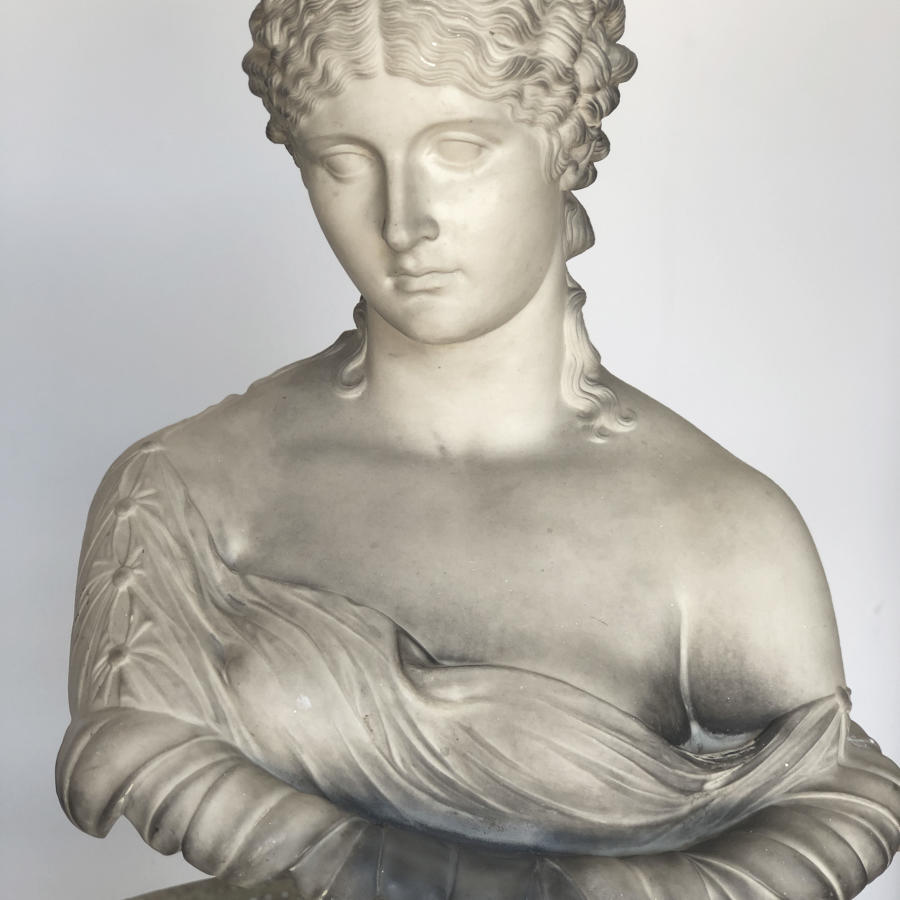 19th c Plaster Bust of Clytie, the Water Nymph