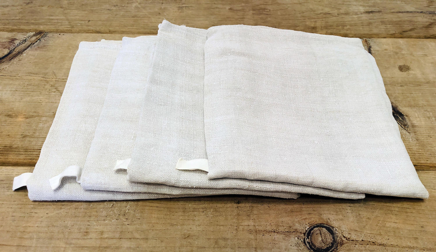 Bundle of 4 Plain French Linen T-Towels