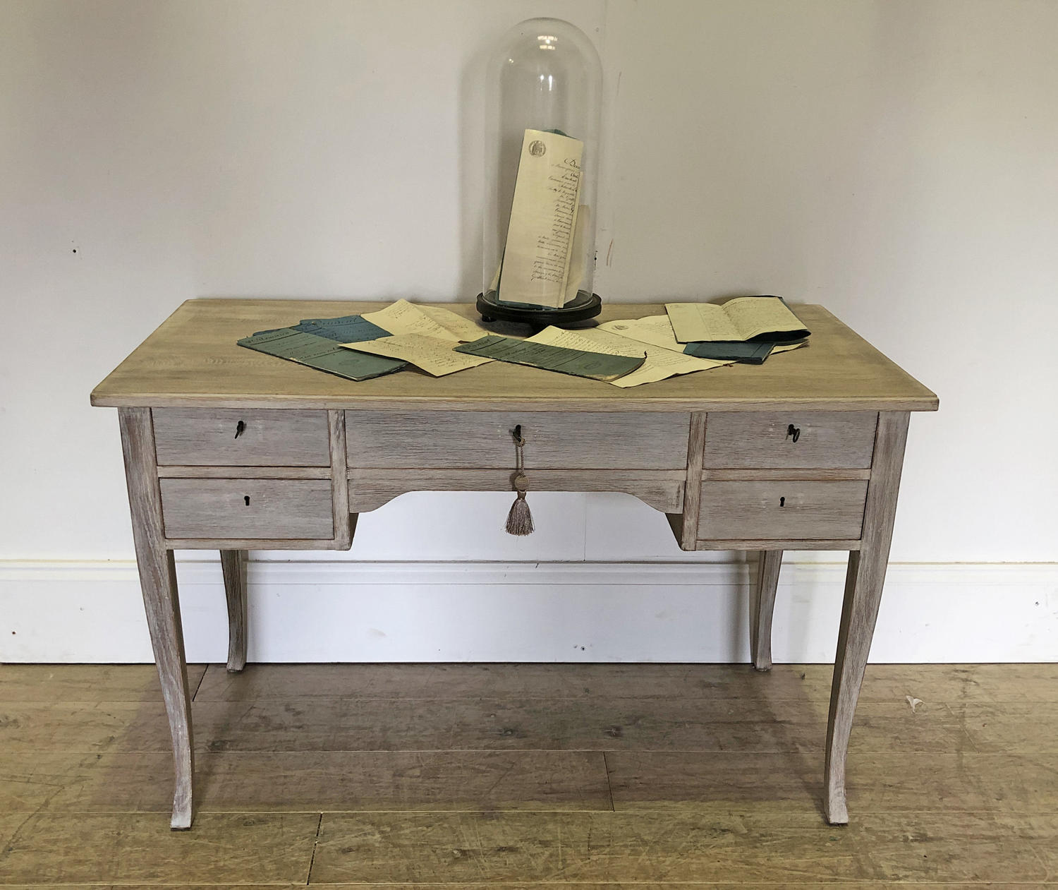 Simple 20th c Swedish Oak desk - circa 1950