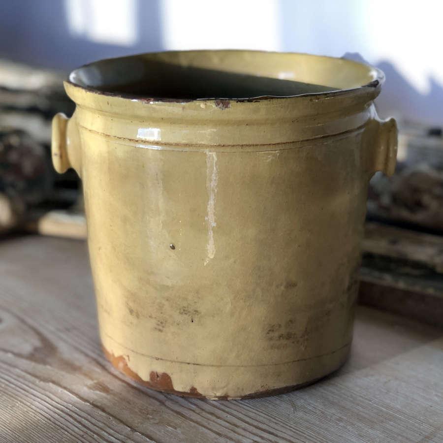 Medium 19th century French Yellow glazed Jar - circa 1830