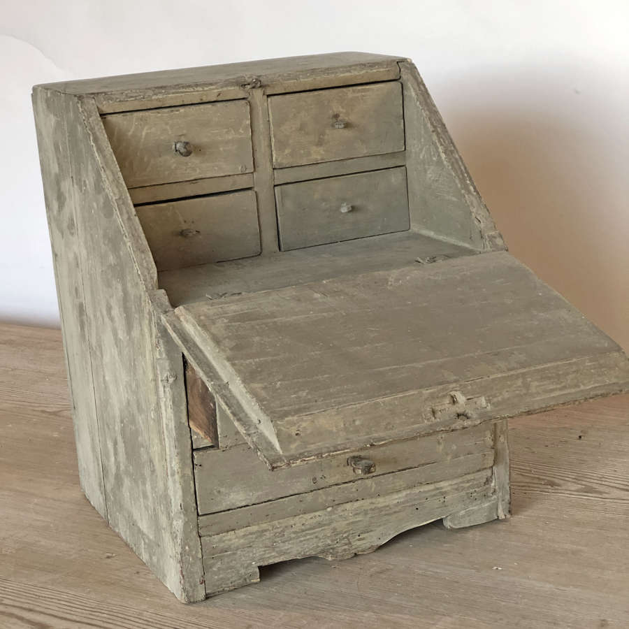 Rare Swedish 18th c Miniature Desk - circa 1800