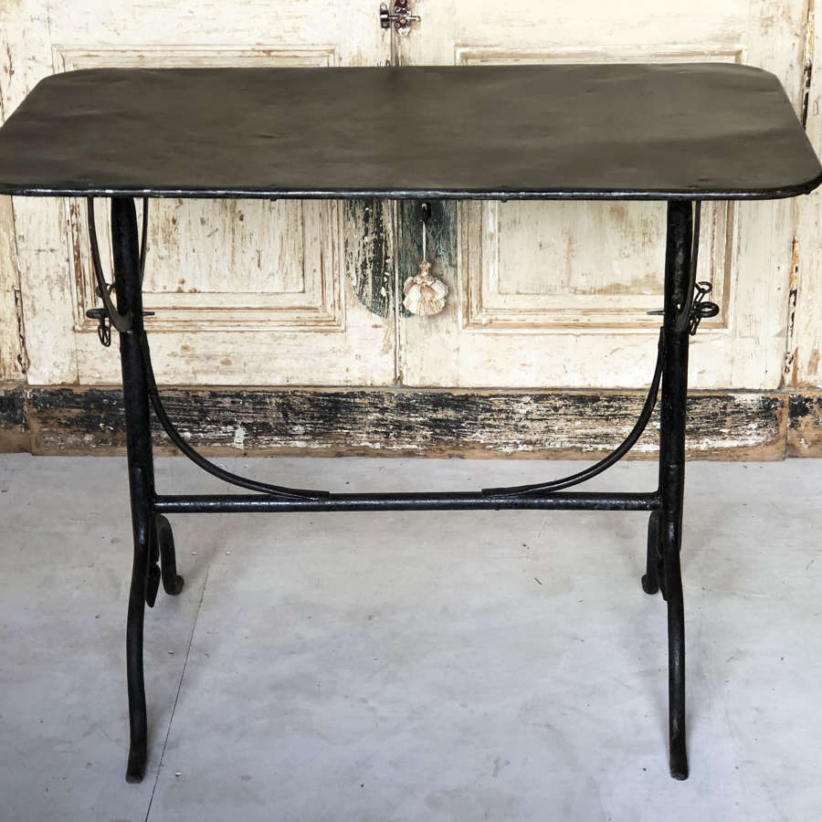 Frenh Iron Folding Table - Circa 1920