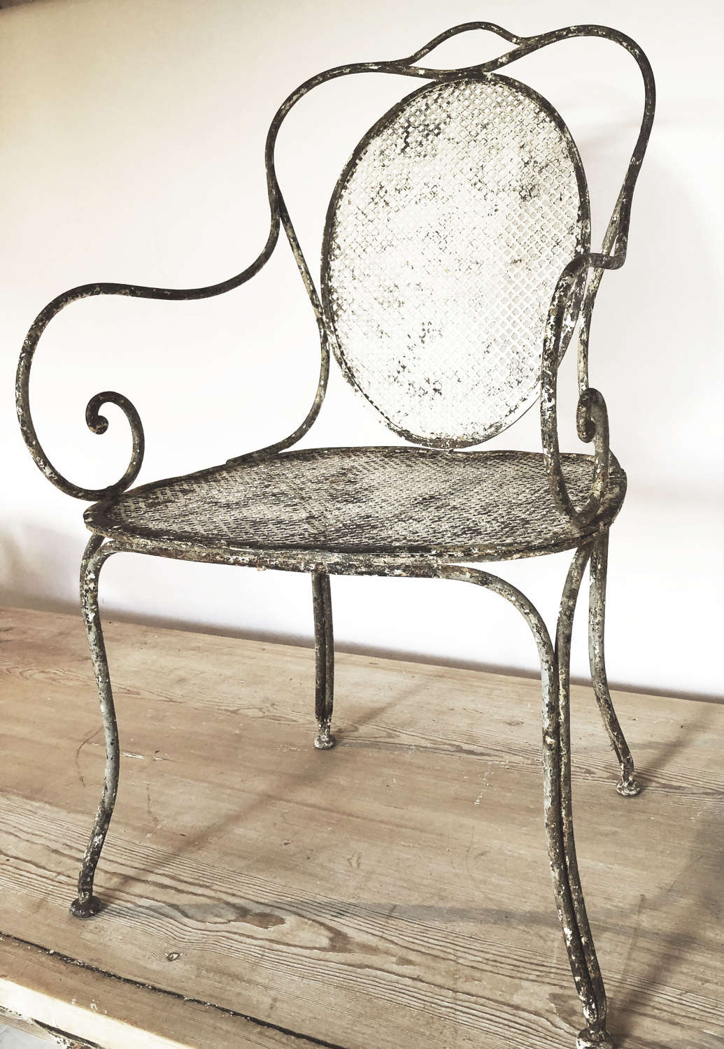 Late 19th c single French Iron Chair - circa 1890