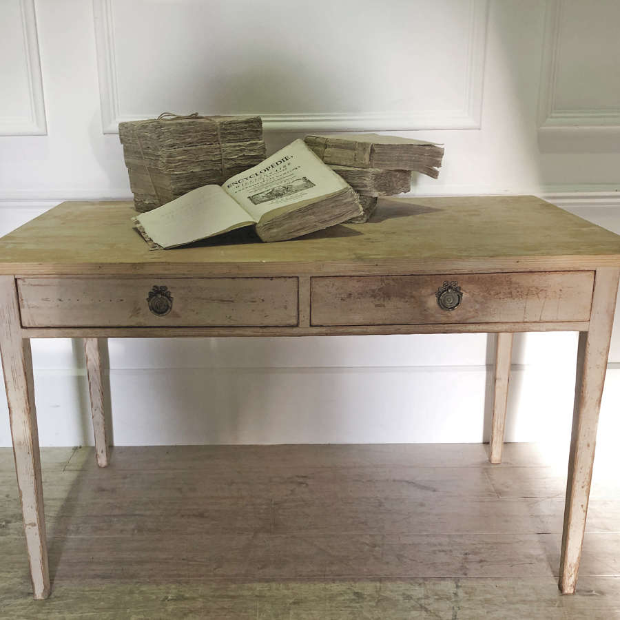 19th c Swedish Pine Desk - circa 1880