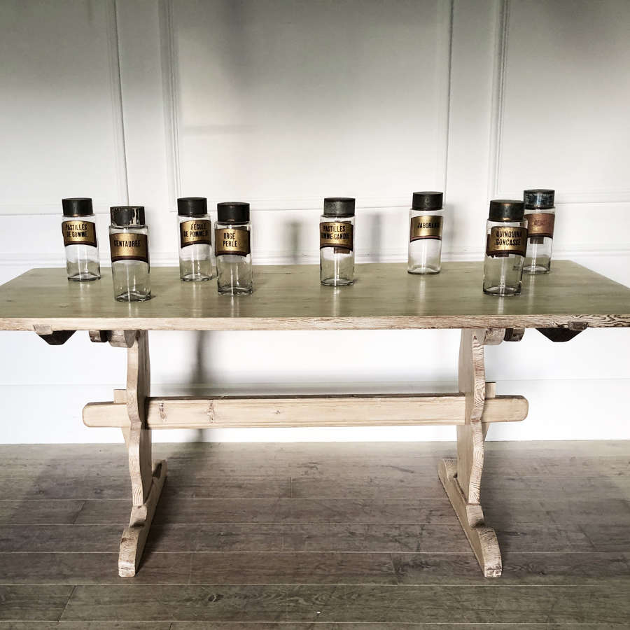 19th c Swedish Traditional Pine Dining Table Circa 1890