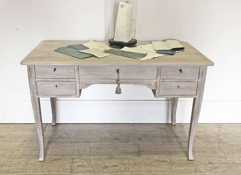 Swedish 20th c Bleached Oak Desk