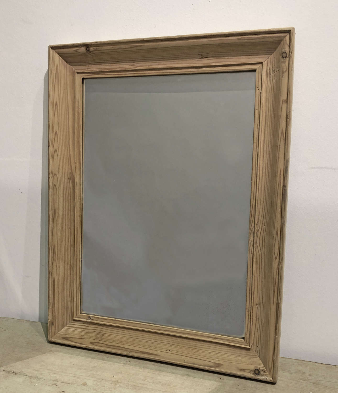 Simple French moulded pine framed Mirror - circa 1920