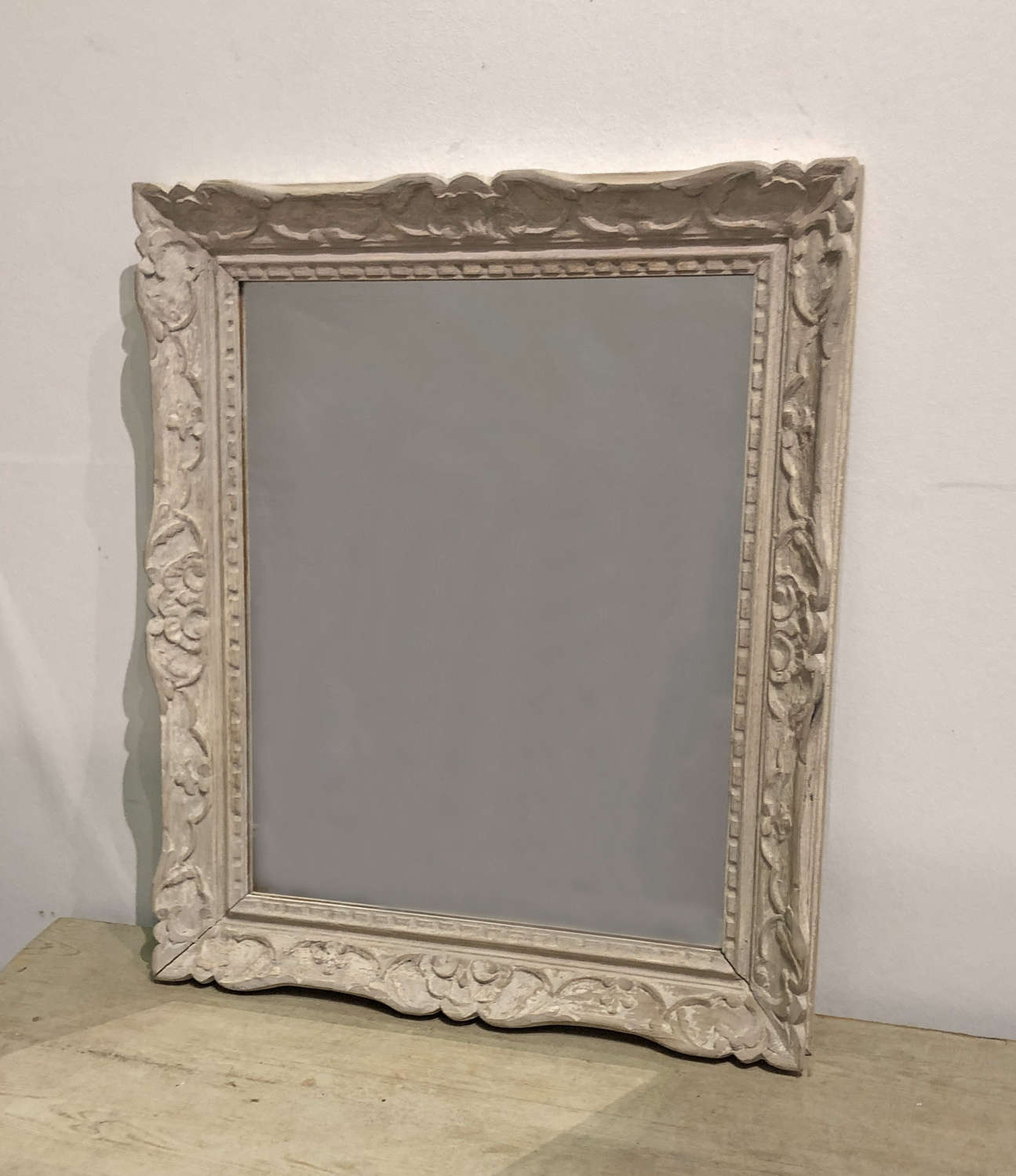 Small 19th c French carved framed Mirror - circa 1890
