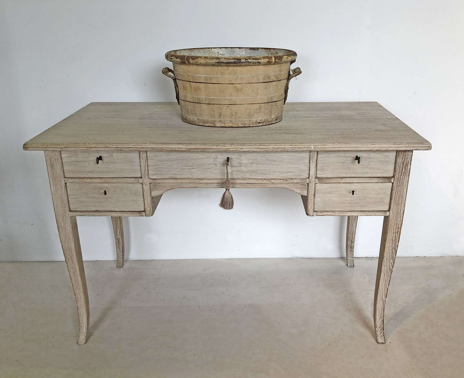 Simple Swedish 20th c Oak Desk - circa 1950