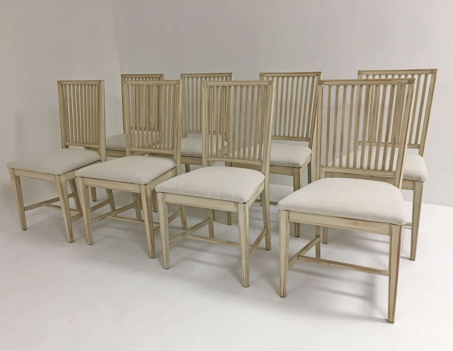 Set of 8 Swedish 20th century Dining Chairs