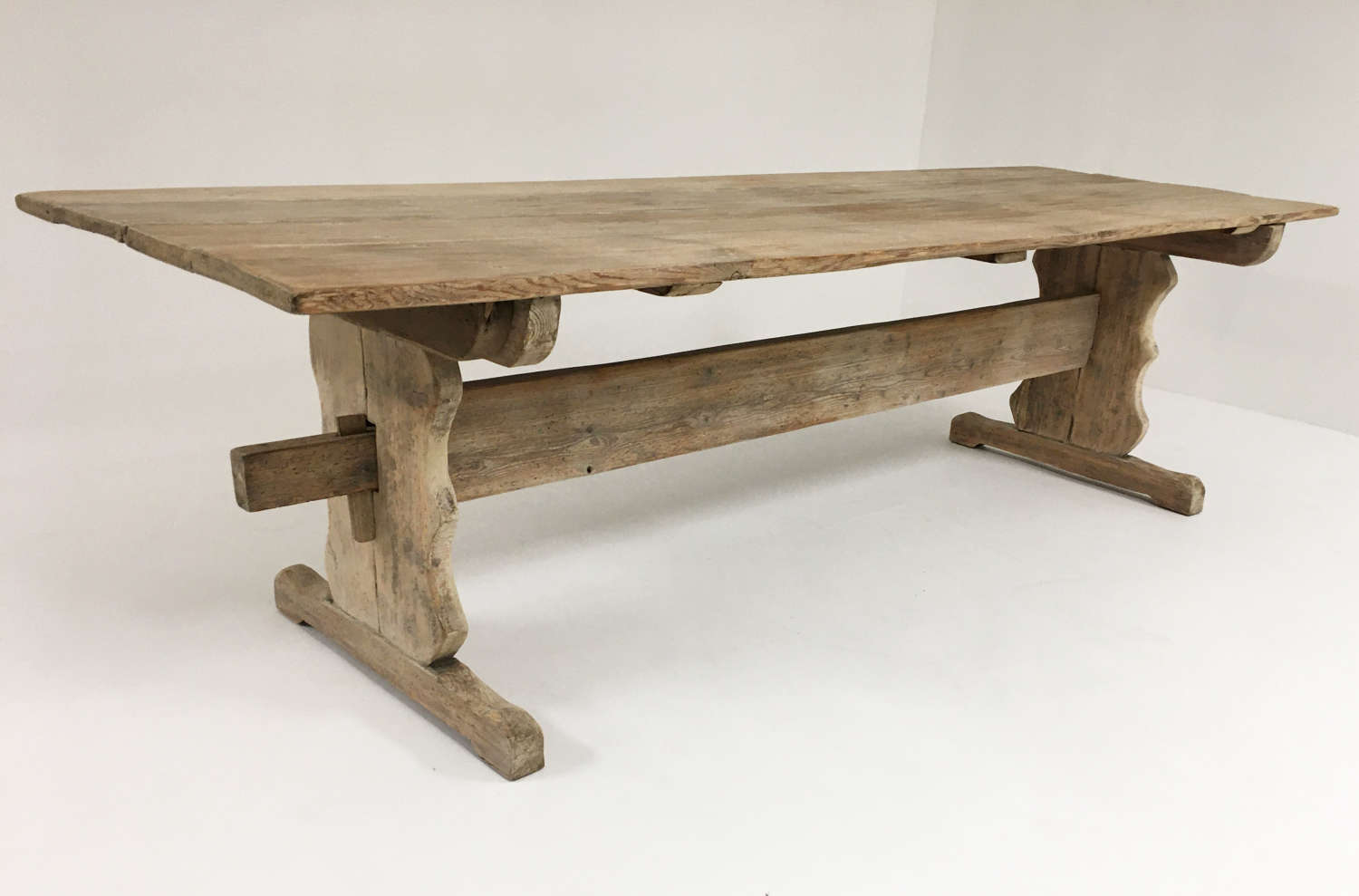 19th c Swedish Rustic Pine Dining Table - 1820