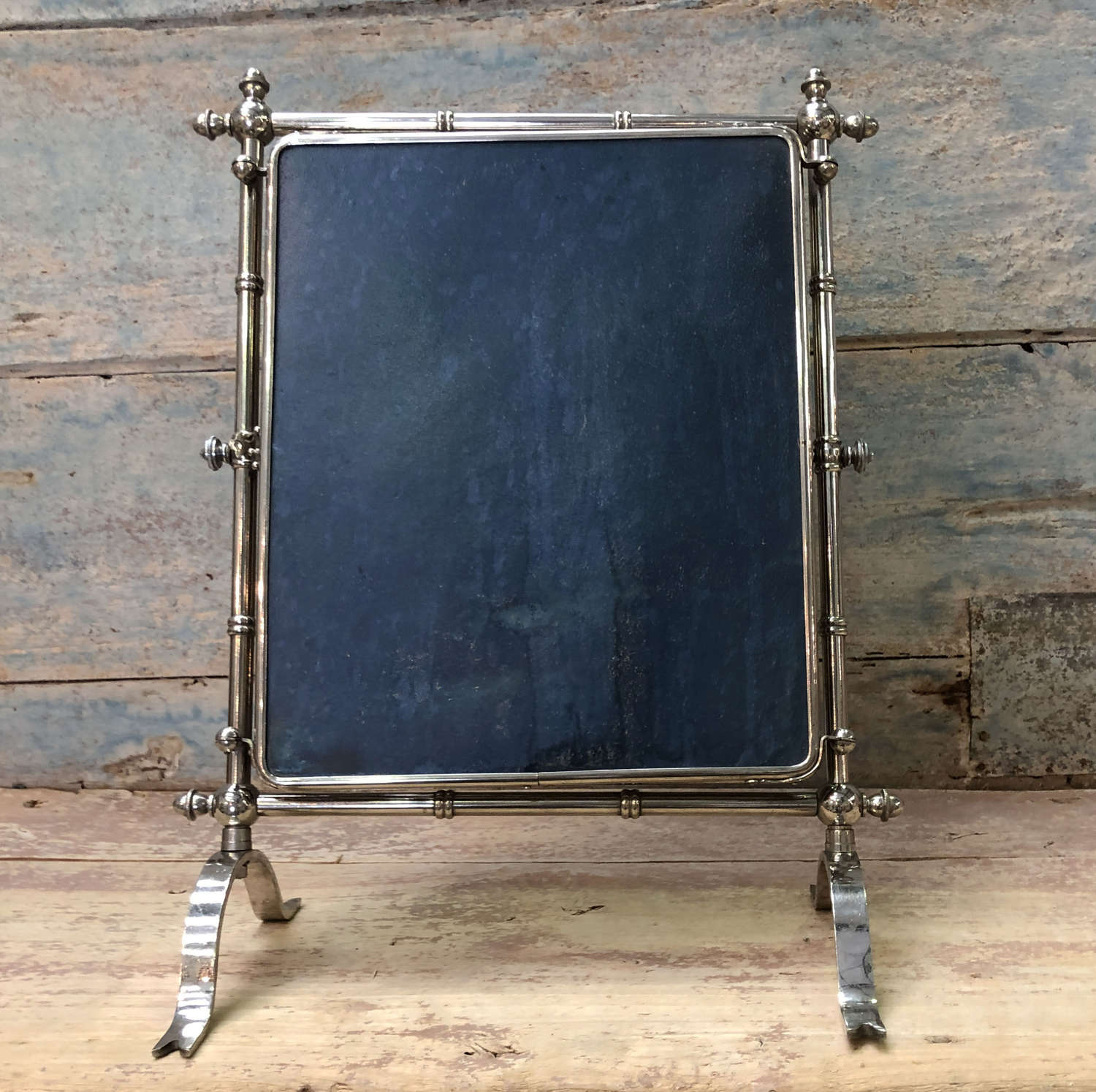 French Chrome Triptych Mirror - circa 1890