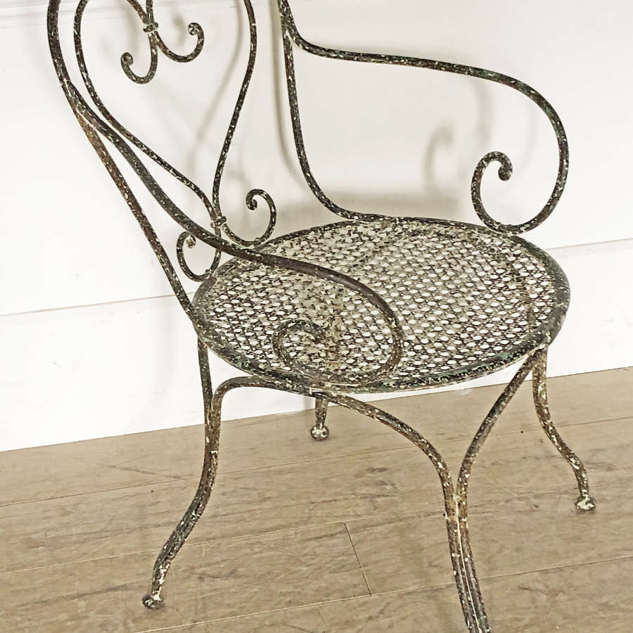 Single large 19th c Iron Armchair - 1880