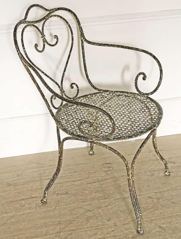 Single large 19th c Iron Armchair - 1880