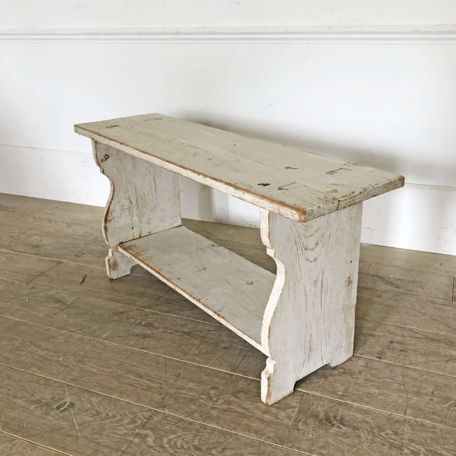 French white Pine Stool - circa 1920