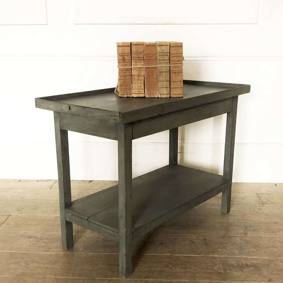 Small French 19th c side Table with shelf below c 1890