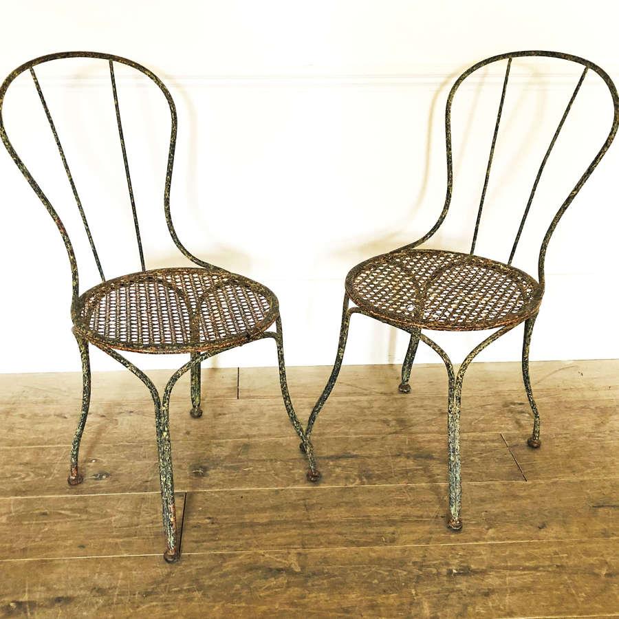 Pair of French 19th century Iron Chairs - circa 1890