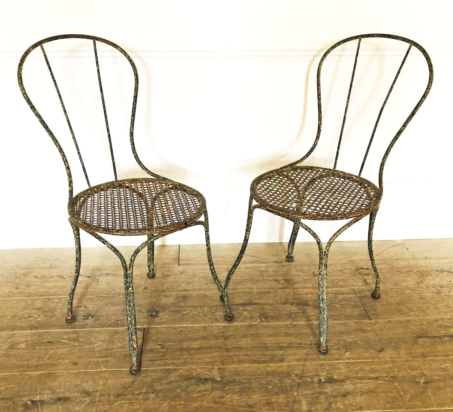 Pair of French 19th century Iron Chairs - circa 1890
