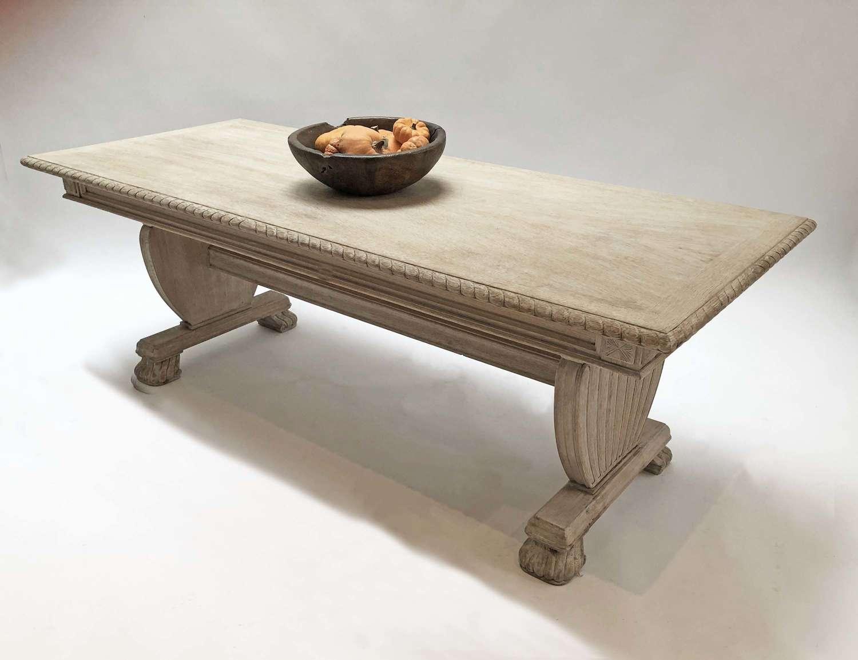 Large Norwegian Oak Coffee Table - Circa 1940