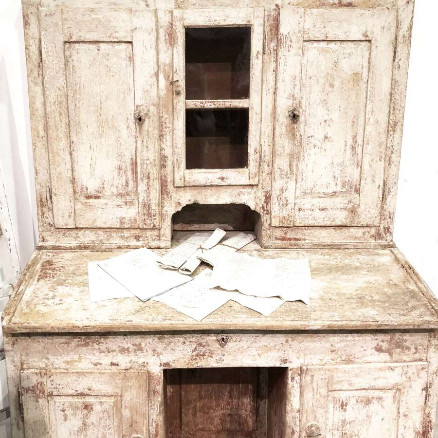 18th c Italian Painted Pine Writing Bureau - Circa 1780