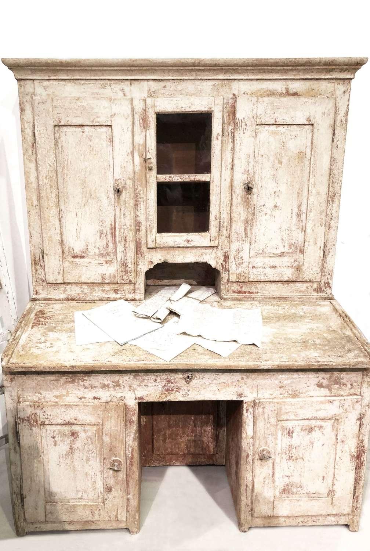 18th c Italian Painted Pine Writing Bureau - Circa 1780