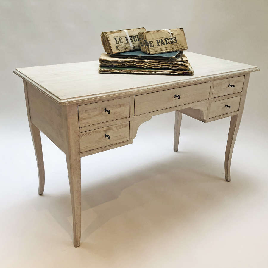 20th c Swedish Desk - limewashed finish - circa 1950
