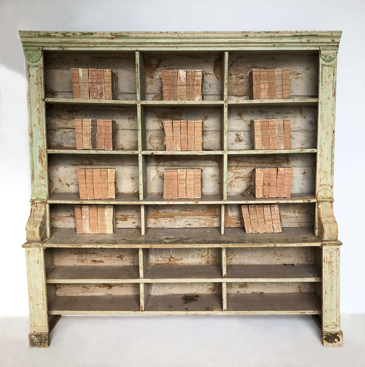 French 19th century Bookcase with original paint - circa 1880