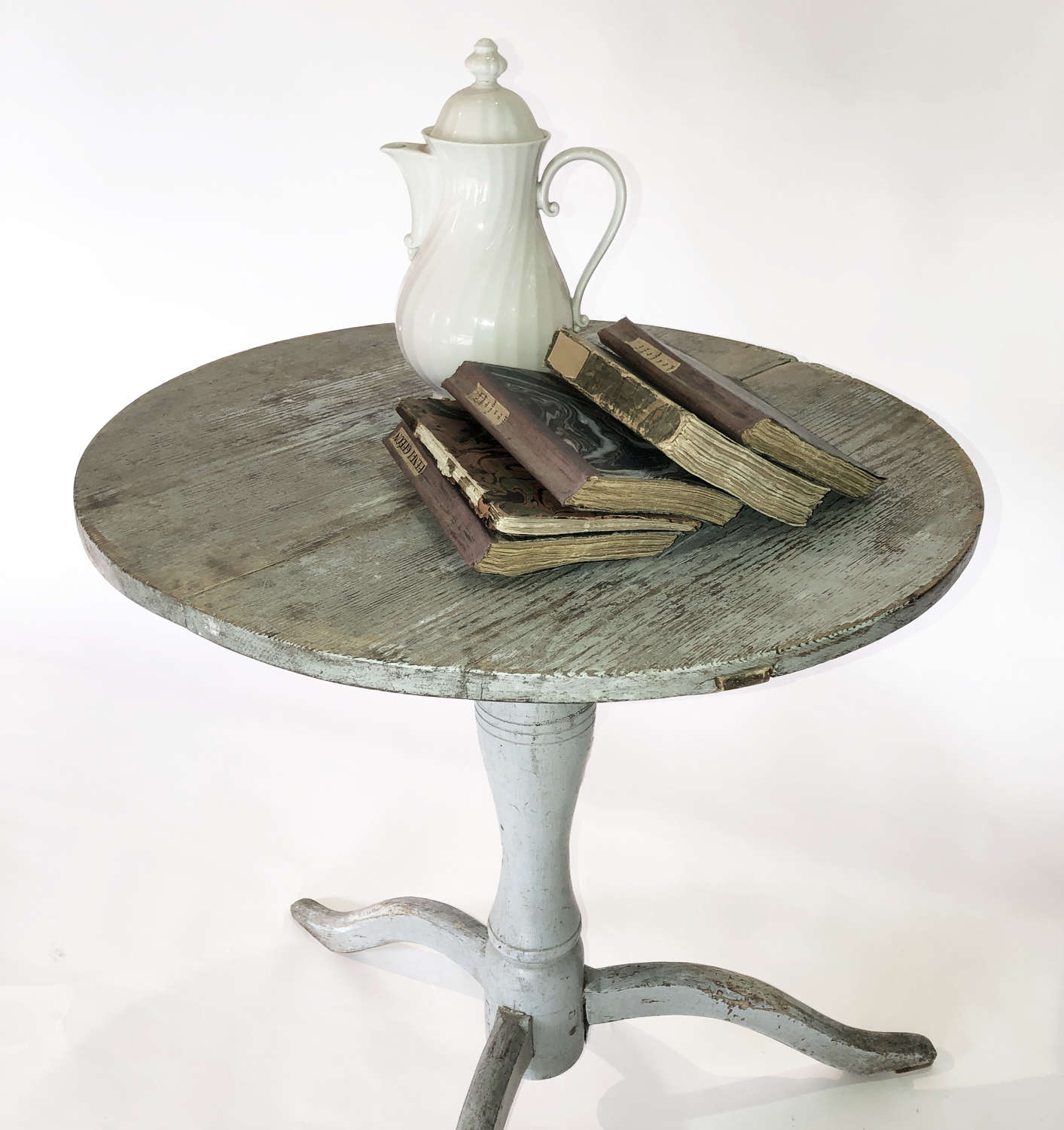 Swedish early 19th c Flip-top round side table - circa 1840