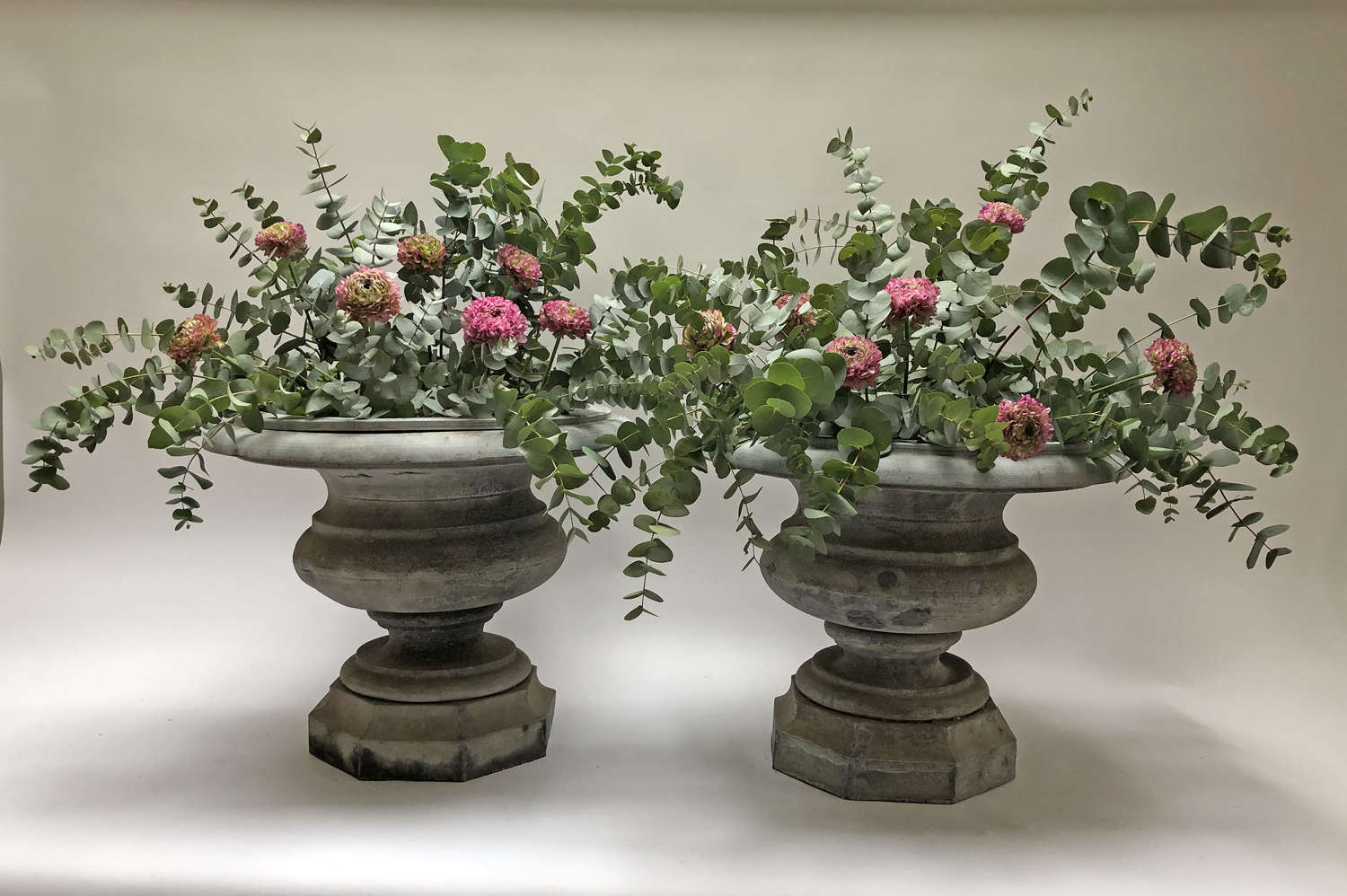 Beautiful Pair of early 19th French Zinc Urns - 1830