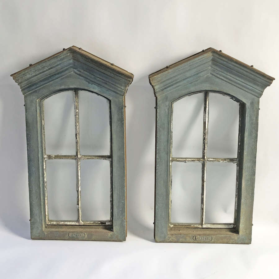 A Pair of French 19th c Cast Iron Windows - circa 1890