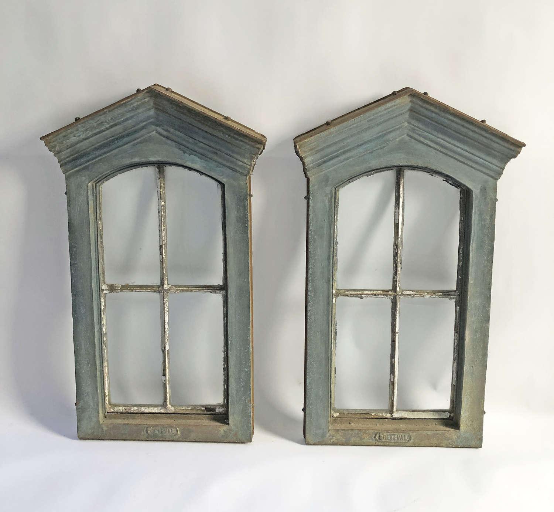 A Pair of French 19th c Cast Iron Windows - circa 1890